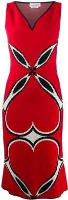 Alexander McQueen Heart Print Dress