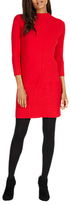 Phase Eight Francesca Rib Knit Dress, Red