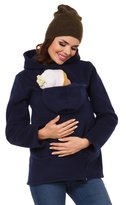 Zeta Ville Fashion Zeta Ville - Womens Top Maternity Hooded Sweatshirt Babywearing Carrier - 031c (