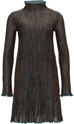 M Missoni Metallic Long Sleeve Mini Dress