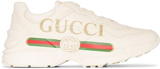 Gucci Rhyton logo leather sneakers