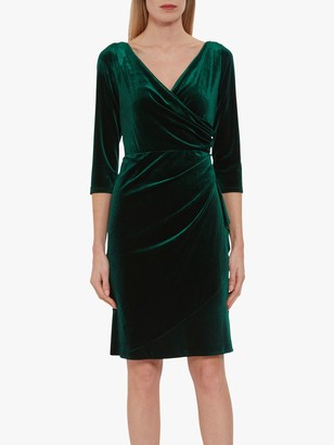 Gina Bacconi Letty Velvet Wrap Dress