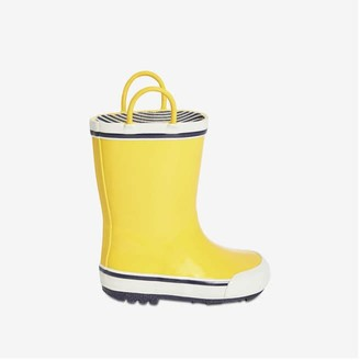 Joe Fresh Toddler Boys' Rubber Rain Boots, Bright Yellow (Size 9)