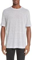 ATM Anthony Thomas Melillo Men's Stripe Linen T-Shirt