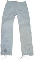 Preen by Thornton Bregazzi White Cotton Jeans for Women