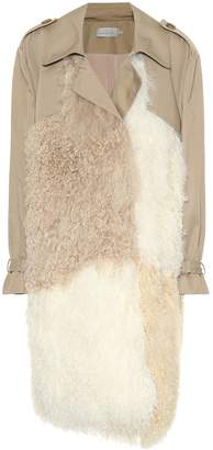 Preen by Thornton Bregazzi Mara shearling-trimmed trench coat