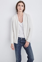 Melanie Cable Knit Open Cardigan