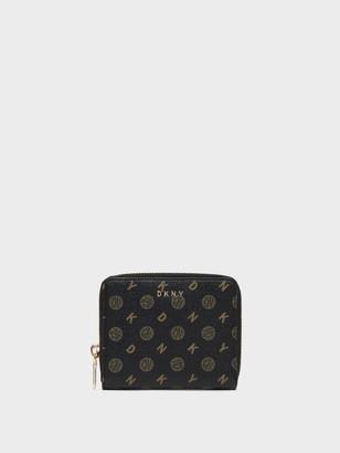 DKNY Bryant Heritage Circa Logo Zip-around Wallet