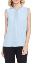 Vince Camuto Women's Lace Trim Sleeveless Blouse
