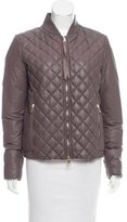 Moncler Alie Quilted Leather Jacket w/ Tags