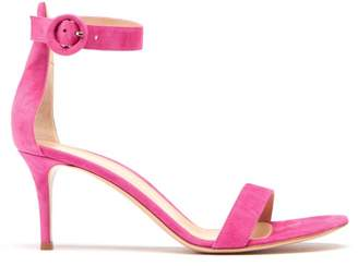 Gianvito Rossi Portofino 70 Suede Sandals - Womens - Fuchsia