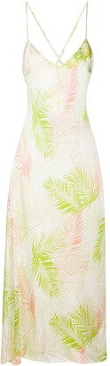Gilda & Pearl Palm Leaf Print Maxi Dress