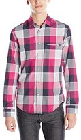 HUGO BOSS BOSS Green Men's Large Plaid Long Sleeve Button Down Shirt