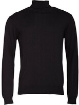 French Connection Mens Cotton Roll Neck Jumper Black