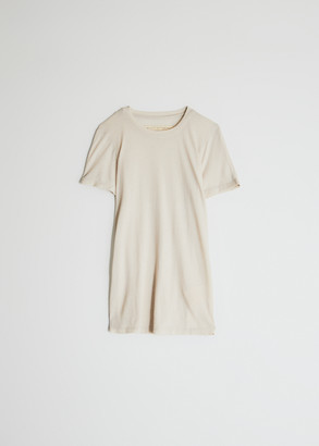 Raquel Allegra Women's Slim T-Shirt in Dirty White, Size 0 | Cotton/Polyester