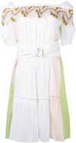 Peter Pilotto bardot guipare lace trim dress - women - Cotton/Polyamide/Spandex/Elastane - 6