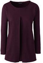 Classic Women's Plus Size Ponté Pleat Front Top-Darkest Burgundy