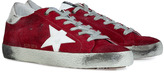 Golden Goose Red Suede/White Superstar Sneakers