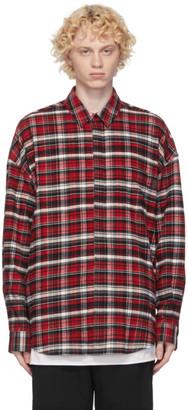 Juun.J Red Flannel Checkered Shirt