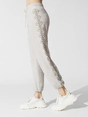 Monrow Stitched Waist Sweats With Motif Studs