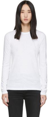 Rag & Bone White The Long Sleeve T-Shirt