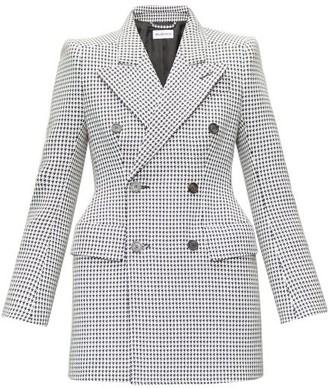 Balenciaga Hourglass Double-breasted Wool-blend Jacket - Black White