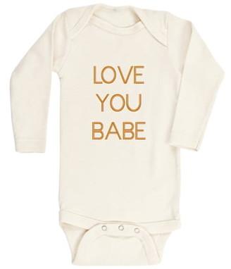 Tenth & Pine Love You Baby Organic Cotton Bodysuit