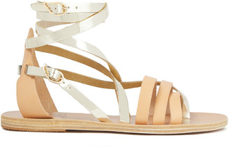 Ancient Greek Sandals Satira Smooth And Mirrored-leather Sandals