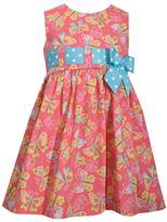 Bonnie Jean Toddler Girl Butterfly Print Poplin Sundress