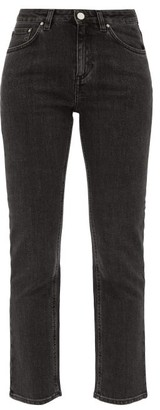 Totême Straight-leg Mid-rise Cropped Jeans - Womens - Grey