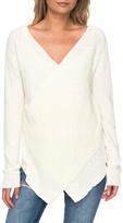 Roxy Faux Wrap Sweater