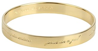 Kate Spade Bridesmaids Idiom Bangle (Gold) Bracelet
