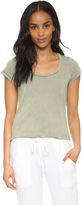 Sundry Scoop Neck Tee