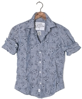 Frank And Eileen Womens Barry Linen Hibiscus Shirt