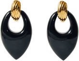 One Kings Lane Vintage Large Black Lucite Earrings