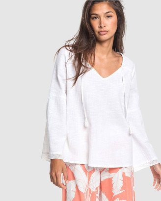 Roxy Womens All In Time Oversized Long Sleeve Blouse