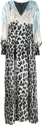 Just Cavalli Feather Print Dress