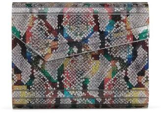 Jimmy Choo Glitter Python-Print Candy Clutch Bag