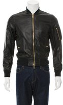 Burberry Raleigh Leather Bomber Jacket w/ Tags