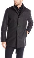 Kenneth Cole New York Men's Wool-Blend Coat with Bib