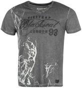 Firetrap Blackseal Skull Smoke T Shirt