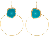 Jacquie Aiche Diamond, turquoise & yellow-gold earrings