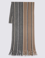 M&s Collection Striped Raschel Scarf