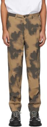 Schnaydermans Tan and Grey Wool Trousers