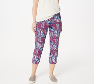 Women With Control Women with Control Regular Pull-On Printed Crop Pants