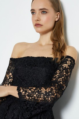 Coast Off The Shoulder Lace Midi Dress