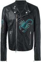 Diesel Black Gold scorpion patches biker jacket - men - Calf Leather/Polyester/Rayon - 46