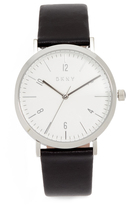 DKNY Minetta Leather Strap Watch