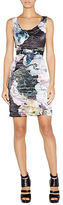 Nicole Miller Abstract Floral Sheath Dress