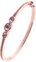 Givenchy Rose Gold and Swarovski Crystal Vintage Rose Bangle Bracelet